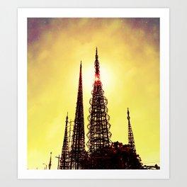 Watts Tower 4 Art Print