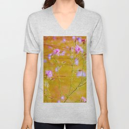 Pink and Yellow Summer Dream Unisex V-Neck