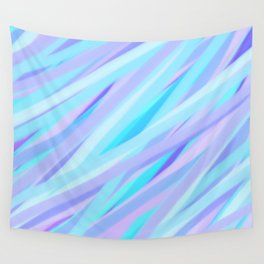 Pastel Pink, Purple, and Light Blue Stripes Wall Tapestry