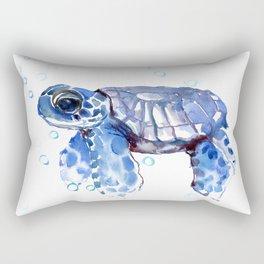 Baby Blue Turtle Rectangular Pillow