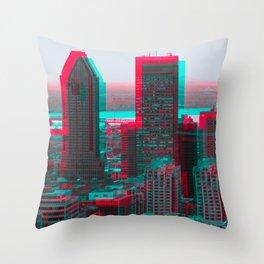 Surreal Montreal #7 Throw Pillow