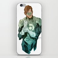 green lantern iPhone & iPod Skins featuring Green Lantern by Bruno Oliveira