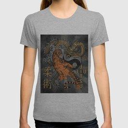 Jiu Jitsu Tiger and Dragon Art, Yin Yang, Martial Arts, Bjj Mma, Japanese T-shirt