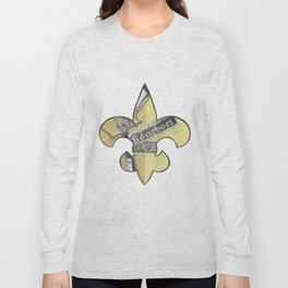 Fleur De Lis Bourbon Street Long Sleeve T-shirt
