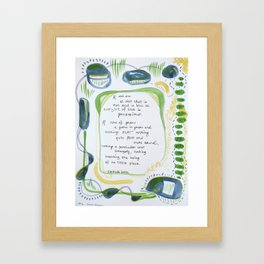 #2 - Every Bit of Blue is Precocious Framed Art Print
