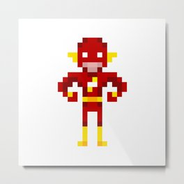 Pixel Scarlet Speedster Metal Print