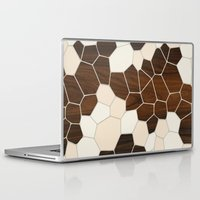 geode Laptop & iPad Skins featuring Geode in Cream by jefdesigns