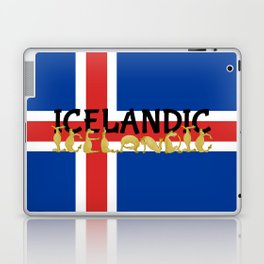 Icelandic Horses Cartoon Laptop & iPad Skin