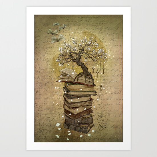 Knowledge is the key Art Print