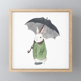 Mr. Tibbles Loves the Rain Framed Mini Art Print