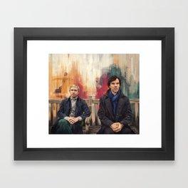 Sherlock and John Framed Art Print