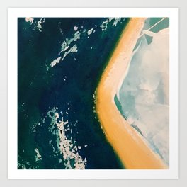 Coastlines + Cloudforms 1.0 detail 1 Art Print