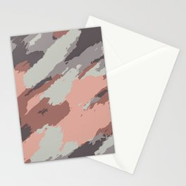 pink grey brown and black painting abstract background Stationery Cards