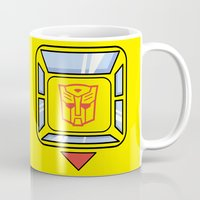 transformers Mugs featuring Transformers - Bumblebee by CaptainLaserBeam