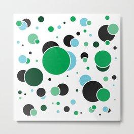 Fizzy Lifting Dots Emerald Metal Print
