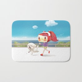 Road Running Bath Mat