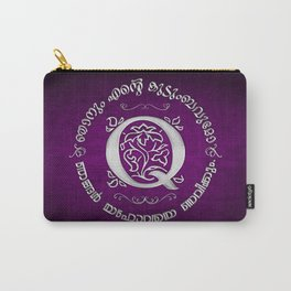 Joshua 24:15 - (Silver on Magenta) Monogram Q Carry-All Pouch