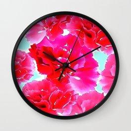 Pink Flower 17 Wall Clock