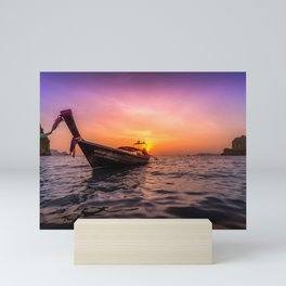 Longtail Sunset Mini Art Print
