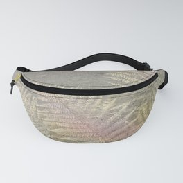 Fossil Rose Gold Fern on Brushed Stone Fanny Pack