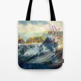 Mountain landscape digital art Tote Bag
