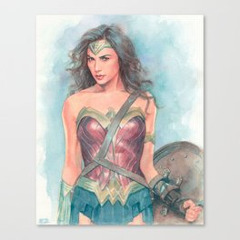 Wonderwoman watercolor Canvas Print