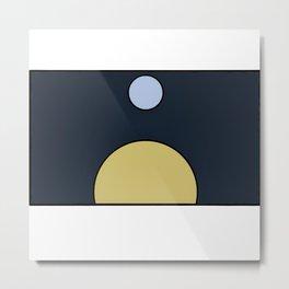 Sun and moon Metal Print
