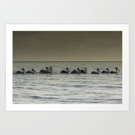 All in a row. Art Print