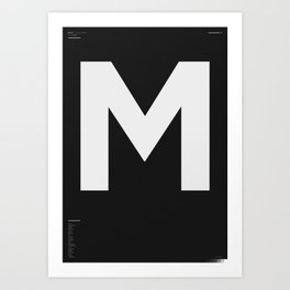 M – Type of Letters Art Print