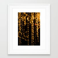 chandelier Framed Art Prints featuring Chandelier by The Botanist's Daughter
