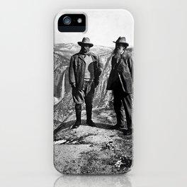 Teddy Roosevelt and John Muir - Glacier Point Yosemite Valley - 1903 iPhone Case
