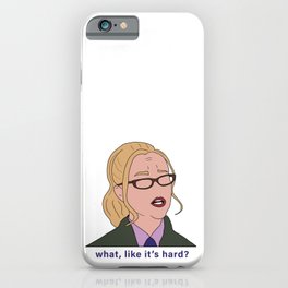 Elle Woods Lawyer (What Like It's Hard) iPhone Case