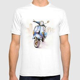 Azzurro Vespa (Motocicletalia) T-shirt