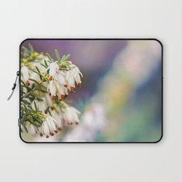 White Heather Flower Laptop Sleeve