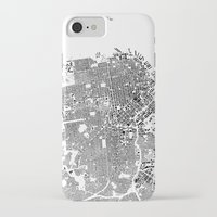san francisco map iPhone & iPod Cases featuring San Francisco Map Schwarzplan Only Buildings by City Art Posters