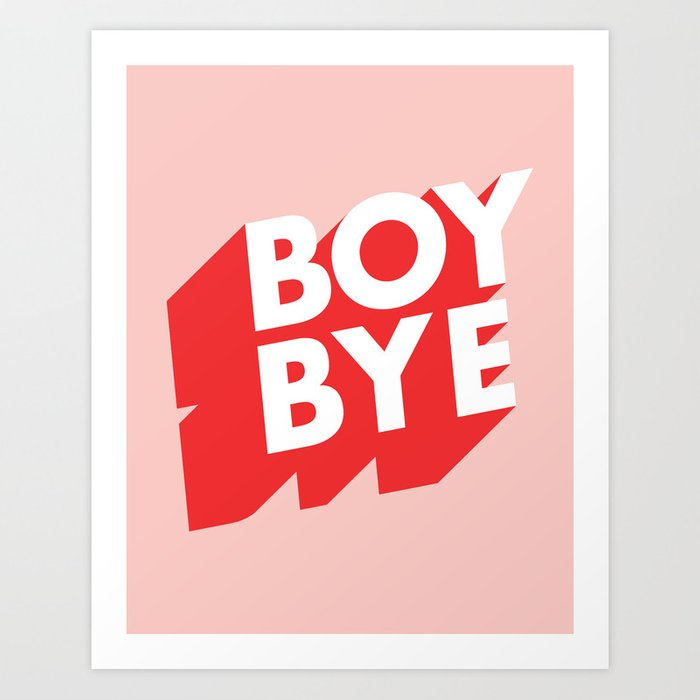 BOY BYE TYPOGRAPHY 2 iphone case