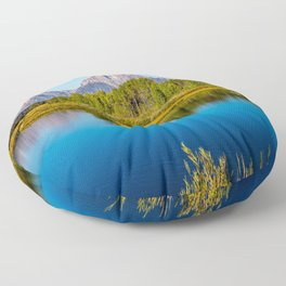 Oxbow Bend - Mt Moran in the Grand Tetons Floor Pillow