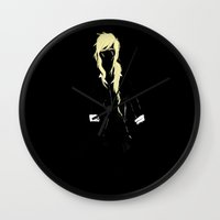 homestuck Wall Clocks featuring Darkness in you.  by Paula Urruti