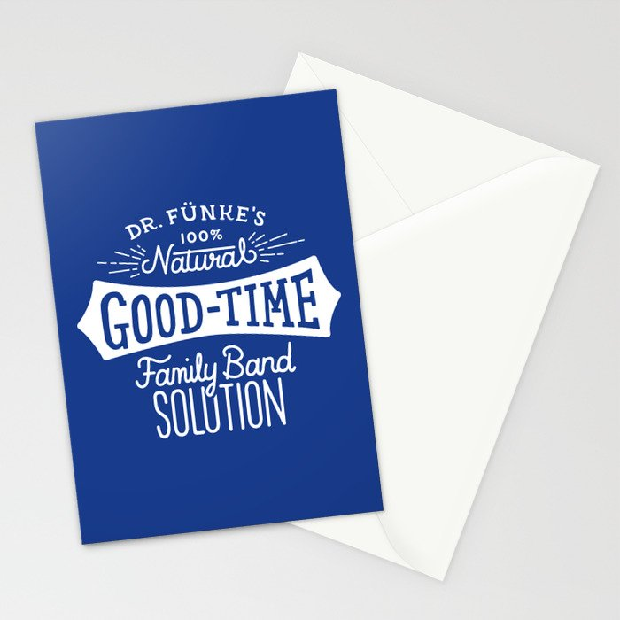 Dr. Funke's 100% Natural Good-Time Family Band Solution Stationery Cards