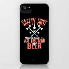 Axe Throwing & Beer T – Shirt iPhone Case