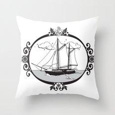 Sailing Ship Oval Throw Pillow