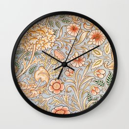 12,000pixel-500dpi - William Morris - Double Branch - Digital Remastered Edition Wall Clock