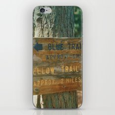Blue Trail, Yellow Trail iPhone & iPod Skin
