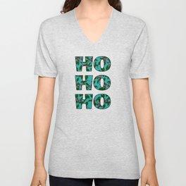 Holly Branches Unisex V-Neck