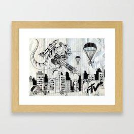 Smart Invasion Framed Art Print