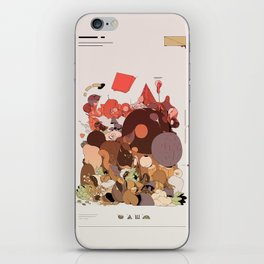 organic infographics iPhone Skin