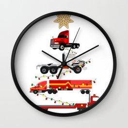 Christmas Trucker Tree Trucker Gift Big Rig Christmas 18 Wheeler Christmas Truck Driver Gift Wall Clock