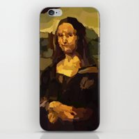 mona lisa iPhone & iPod Skins featuring Mona Lisa by Robert Morris
