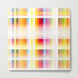 colorful retro grid pattern Nguru Metal Print