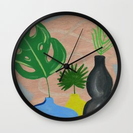 Still Life with Vases Wall Clock